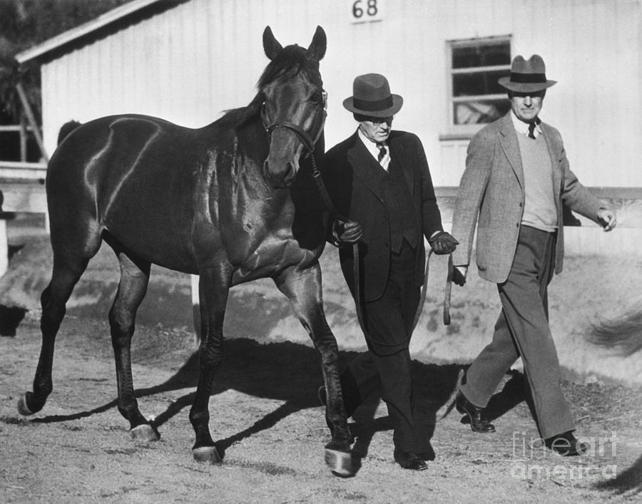 Smith And Howard Walking Seabiscuit Photograph by Bettmann
