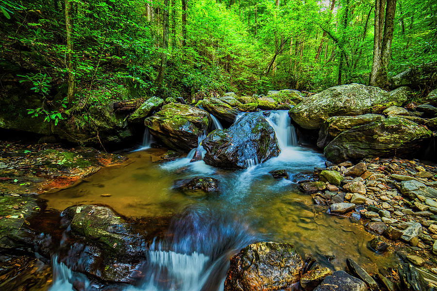 Smith Creek cascade by Andy Crawford