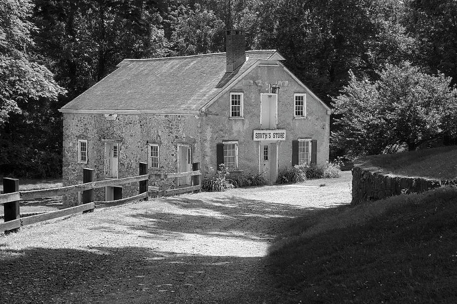 General Store Photograph - Smiths Store BW by Susan Candelario