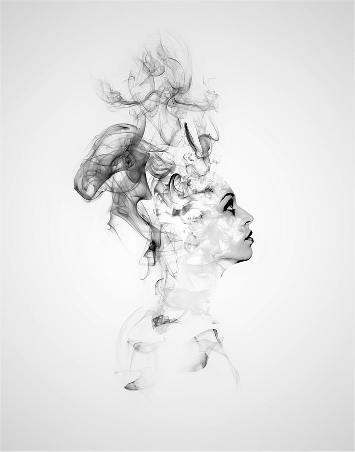 Smoke Digital Art - Smoke Woman by ArtMarketJapan