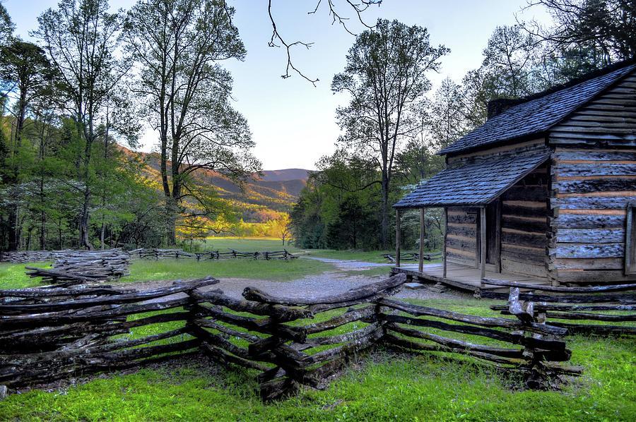 Smokey Mountain Cabin DSC_0308 V2 by Michael Thomas