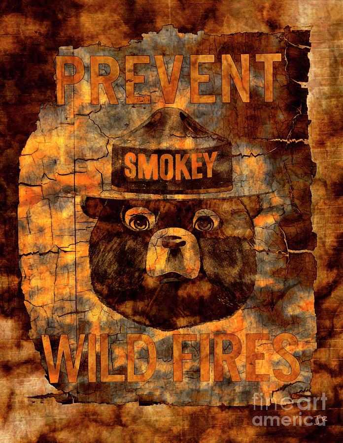 Smokey The Bear Prevent Wild Fires by John Stephens