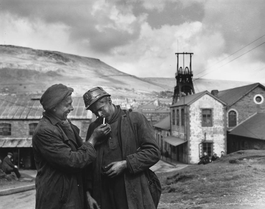 Smoking Miners Photograph by Topical Press Agency