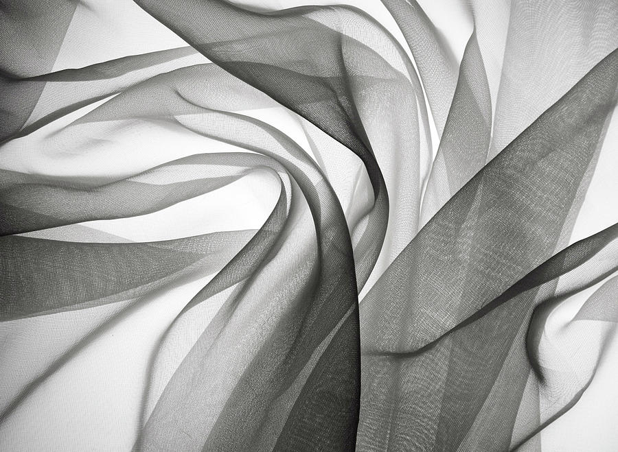 Smoky Gauze Fabric Photograph by Jcarroll-images