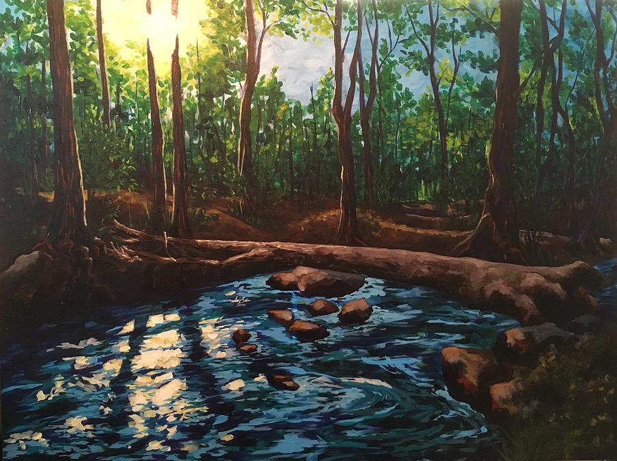 Smoky Mountain Painting - Smoky Mountain Stream by Allison Fox