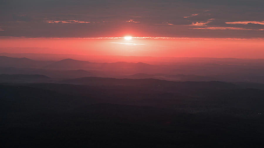 Smooth Alabama Sunset - from Atop Mt. Cheaha by James-Allen