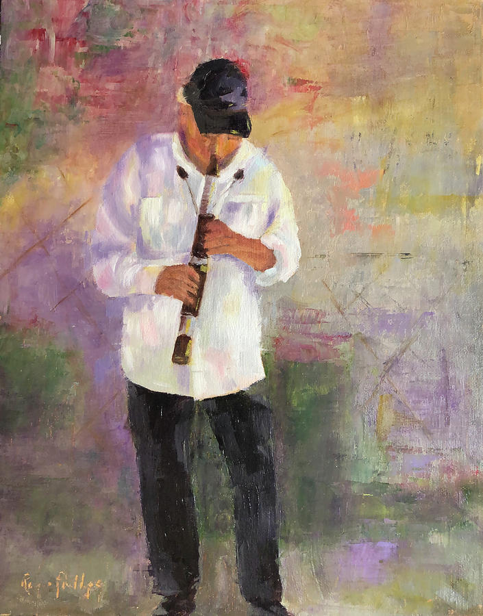 Smooth Jazz Painting by Rosie Phillips
