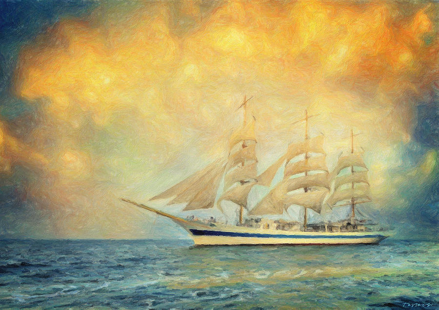 Sailing Painting - Smooth Sailing by Zapista Zapista