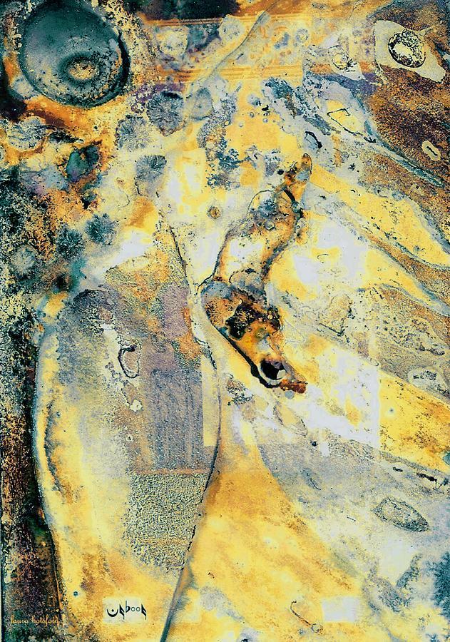 Abstract Digital Art - Snail Peak by Laura Botsford