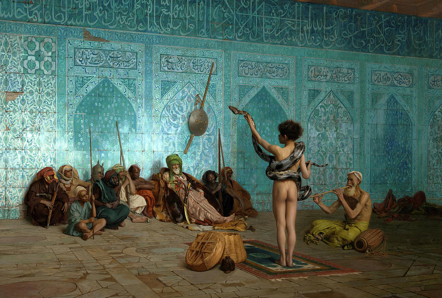 Jean-leon Gerome Painting - Snake Charmer, 1879 by Jean-Leon Gerome
