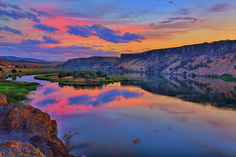 Snake River Sunset by Greg Norrell