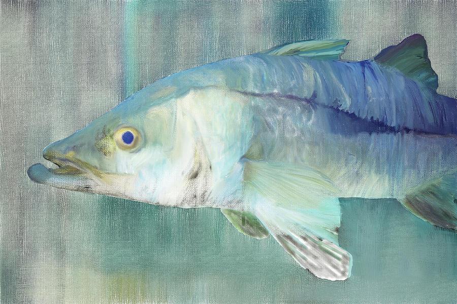 Snook Digital Painting by Gene Norris
