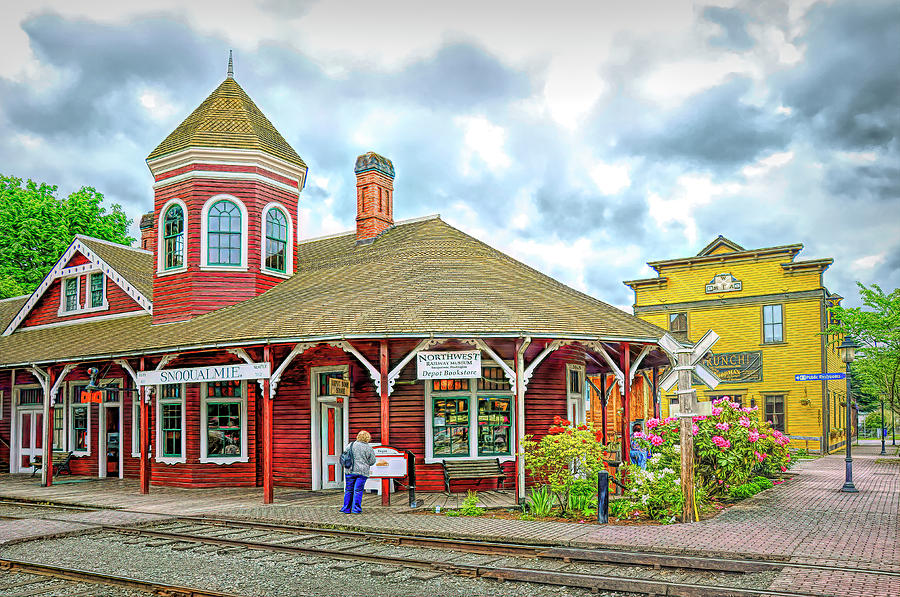 Snoqualmie Depot by PAUL COCO