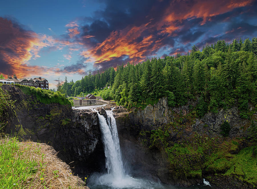 Snoqualmie Falls Early Morning by Darryl Brooks