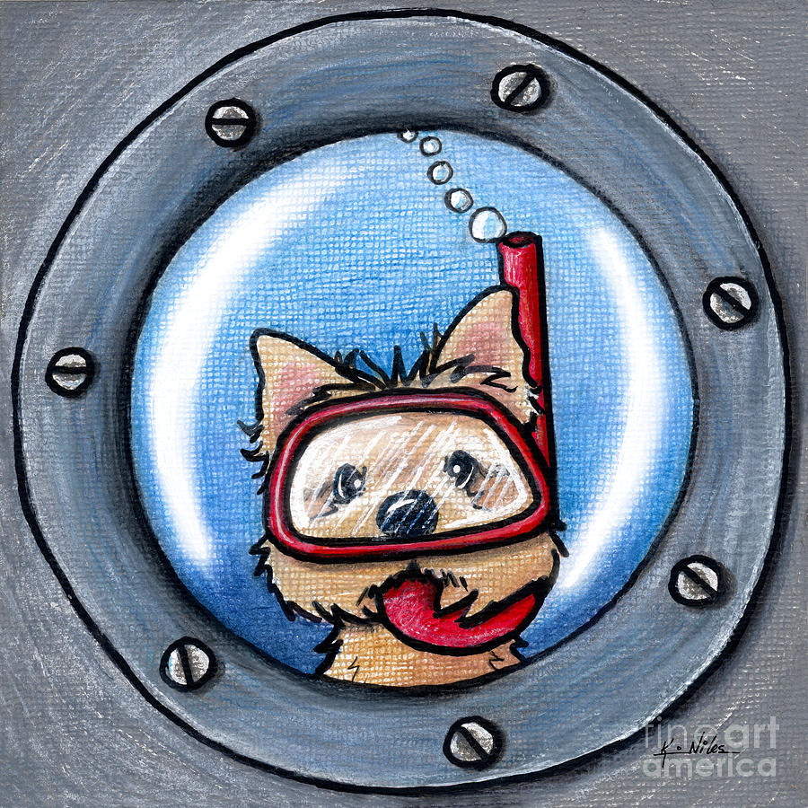 Cairn Mixed Media - Snorkel Cairn Porthole by Kim Niles