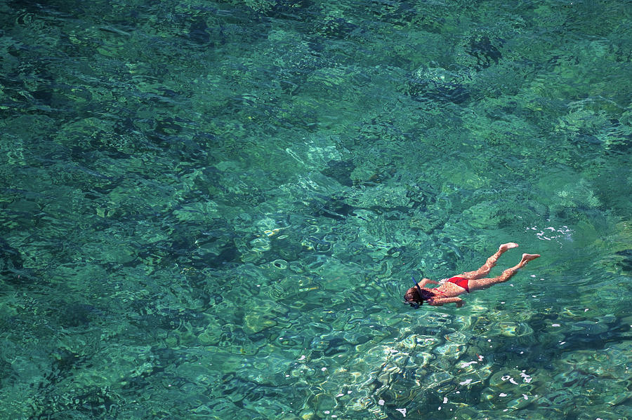 Snorkeling In The Mediterranean Sea Photograph by Photovideostock