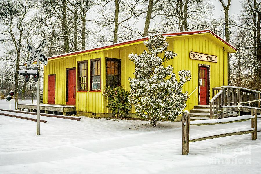 Snow at Franklinville Station by Nick Zelinsky