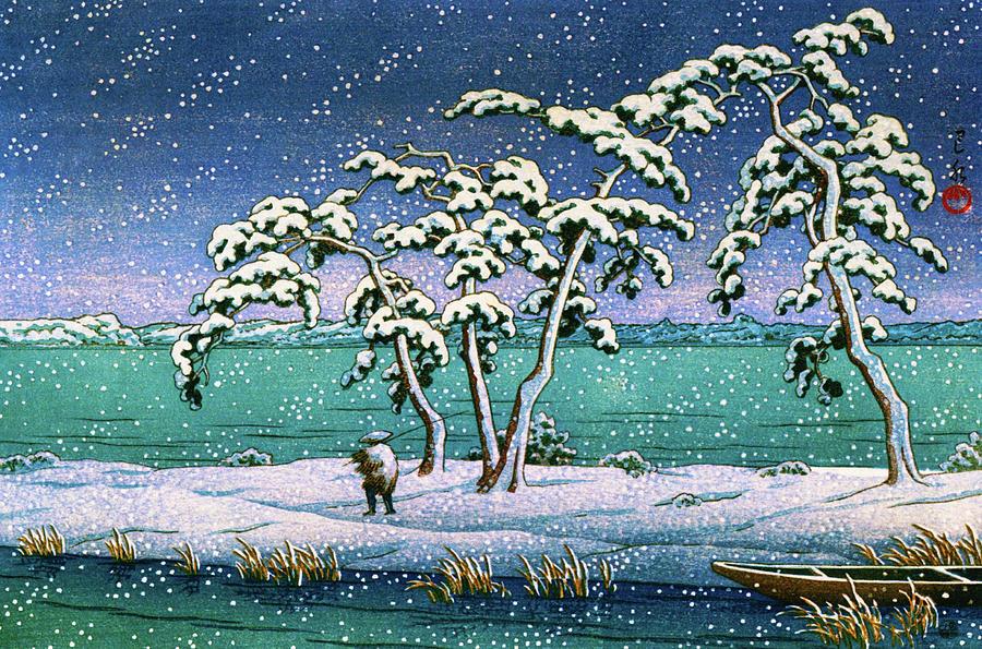 Ukiyoe Painting - Snow At Hi Marsh, Mito - Digital Remastered Edition by Kawase Hasui