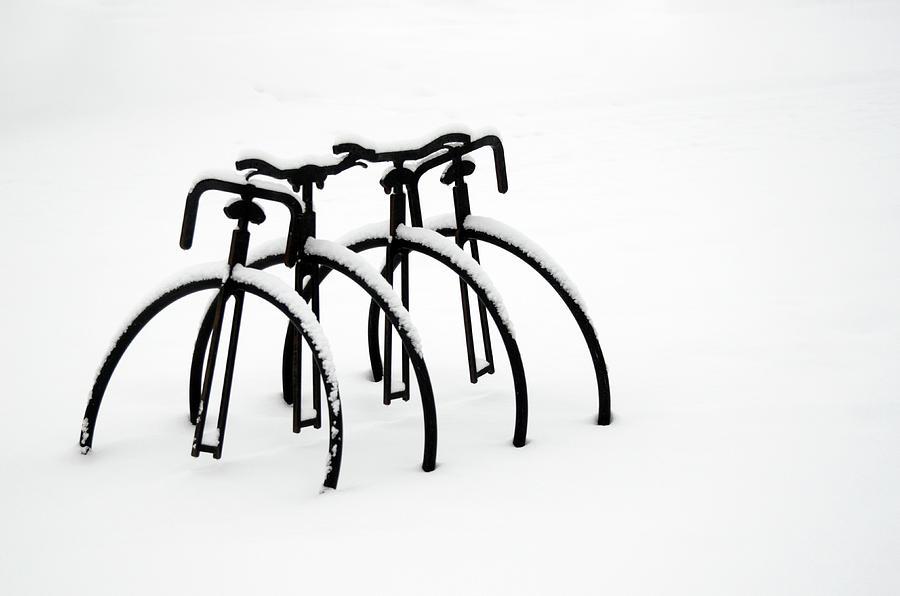 Snow Photograph - Snow Bikes by Dana Klein