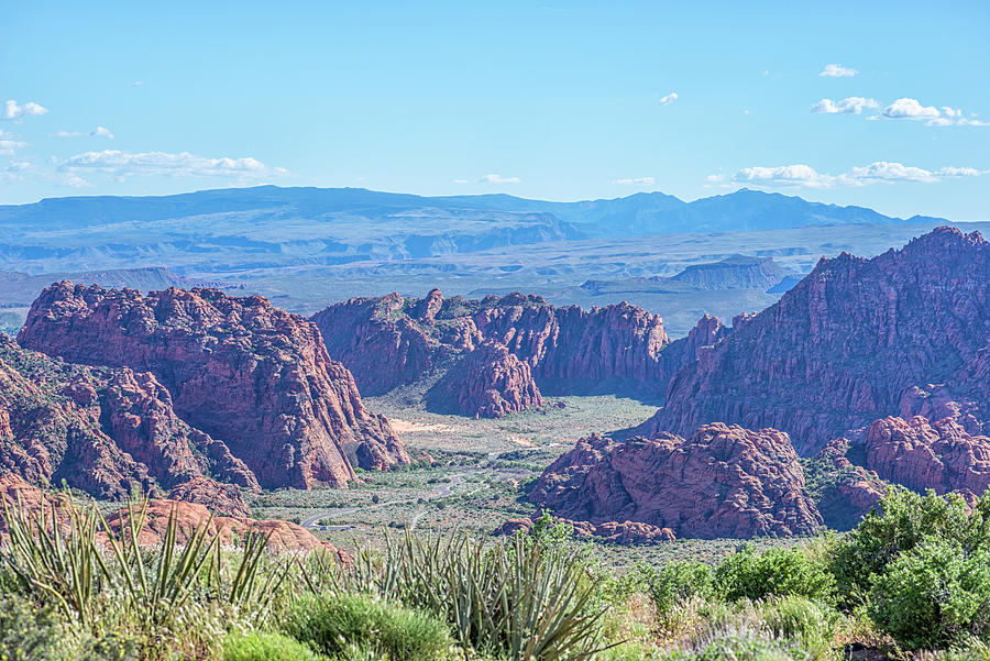 Snow Canyon From Panorama by Joseph S Giacalone