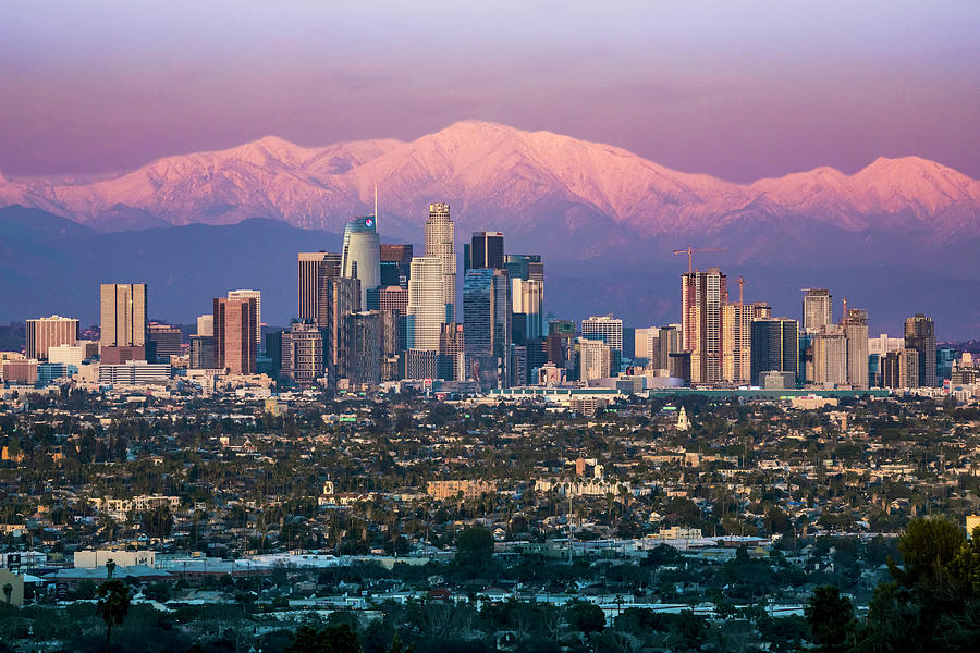 Los Angeles Photograph - Snow Capped Los Angeles by Kelley King