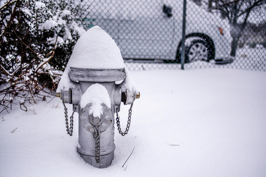 Snow Covered Fire Hydrant by Doug Ash