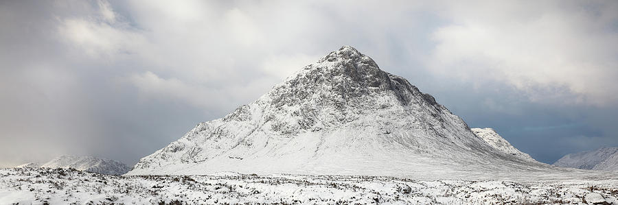Snow covered mountain - Glencoe by Grant Glendinning