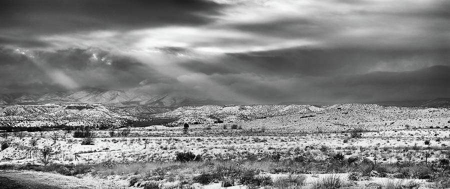 Landscape Photograph - Snow Covers Northern New Mexico by Candy Brenton