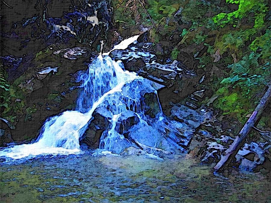 Snow Creek Falls by Robert Bissett
