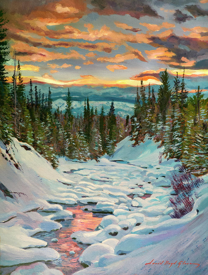 Snow Creek Sunrise Painting