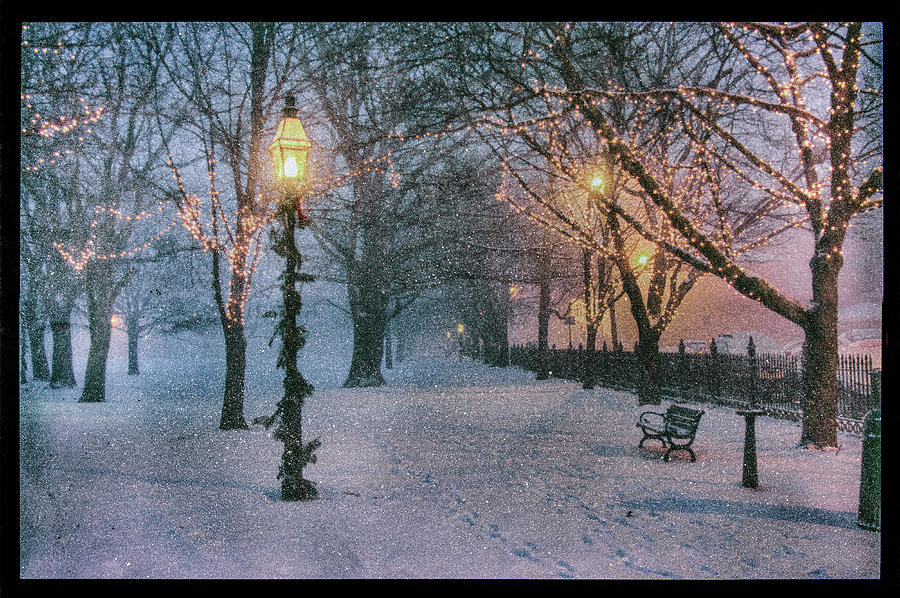 Salem Photograph - Snow Falling On Salem Path by Jeff Folger
