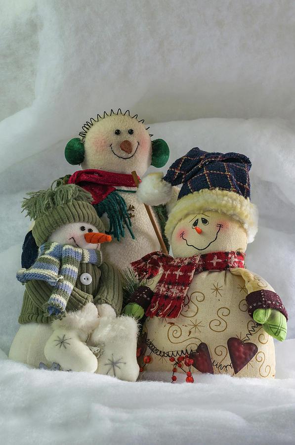 Christmas Photograph - Snow Folk by Ron Dubreuil