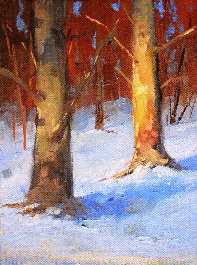 Snow Forest Landscape by Nancy Merkle