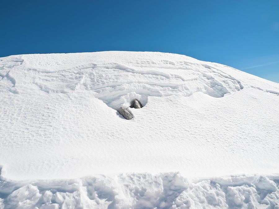 Snow Heap Photograph by Helovi