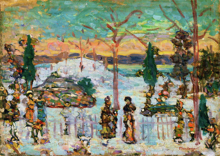 Usa Painting - Snow In April - Digital Remastered Edition by Maurice Brazil Prendergast