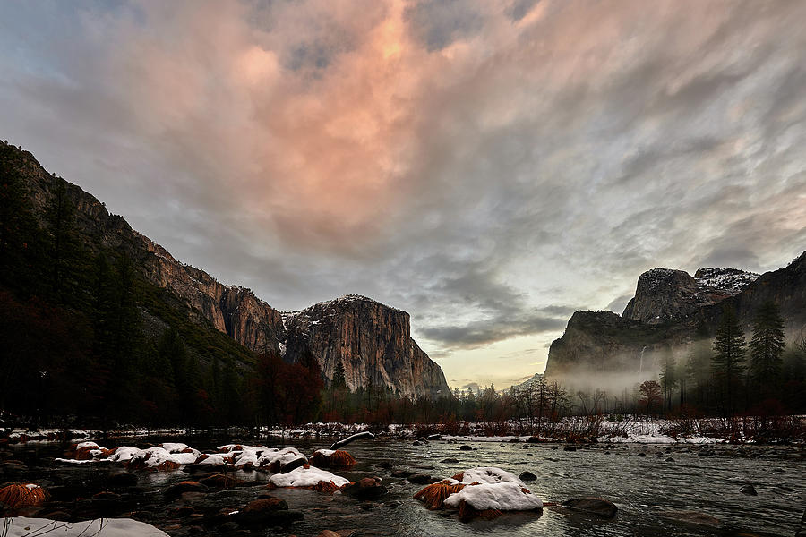 Snow in Yosemite Valley by Jon Glaser