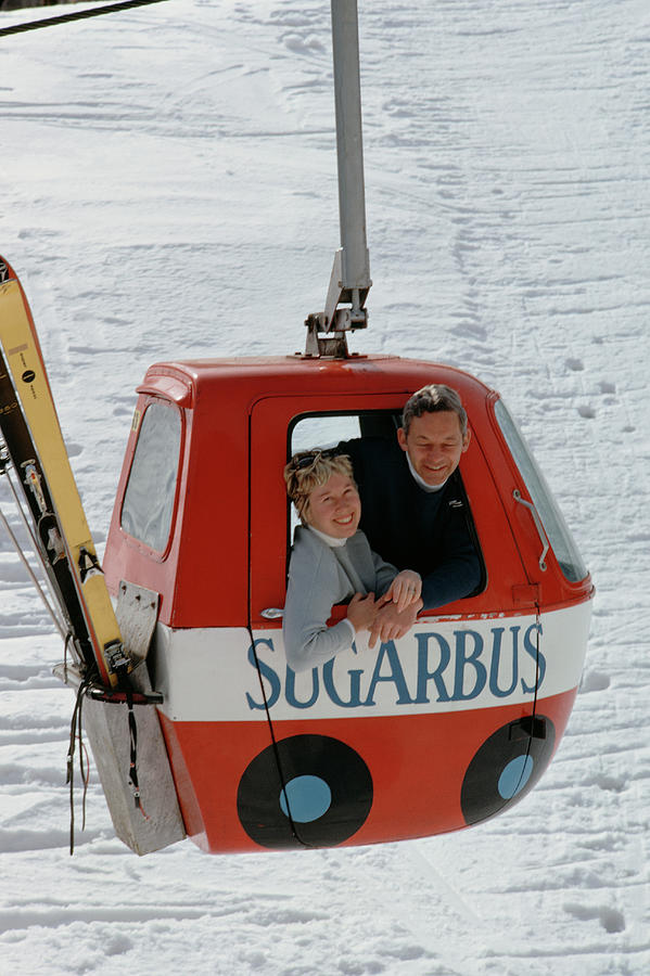 Snow Lift Photograph by Slim Aarons