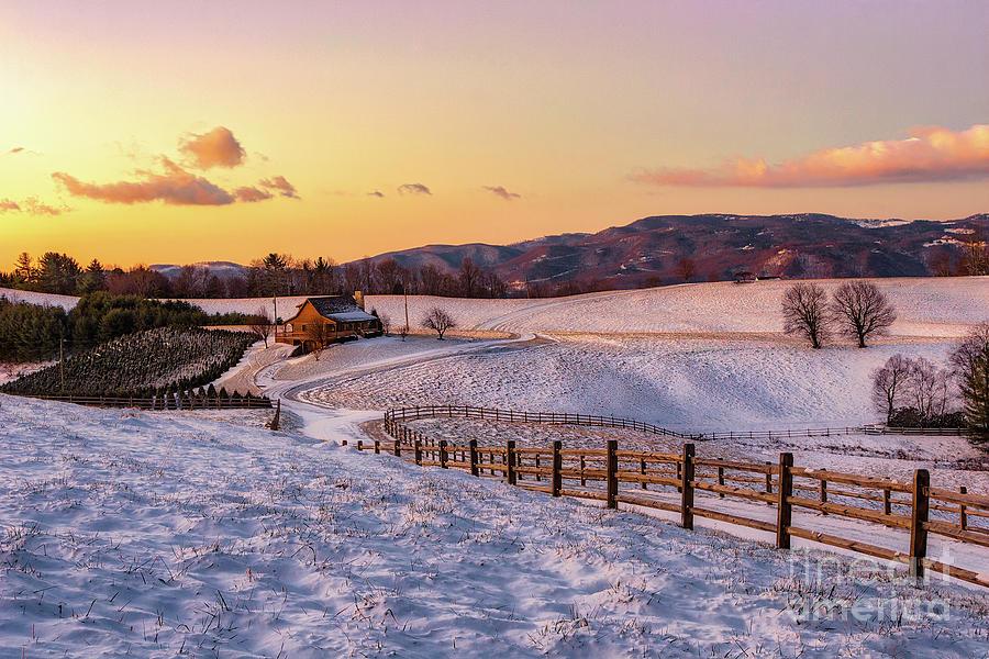 Snow Ranch in the Blue Ridge by Dan Carmichael