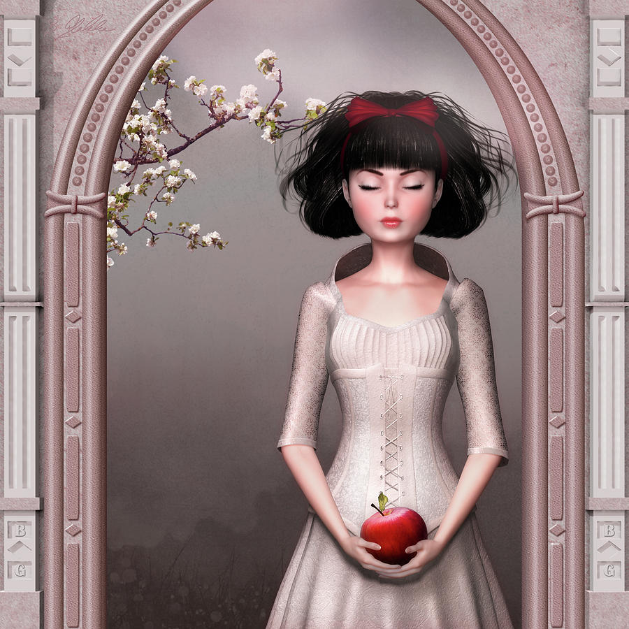 Snow White And The Apple Mixed Media