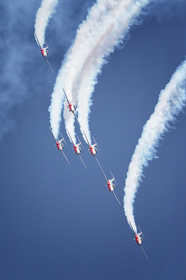 Snowbirds Cross Formation by Randy Hall