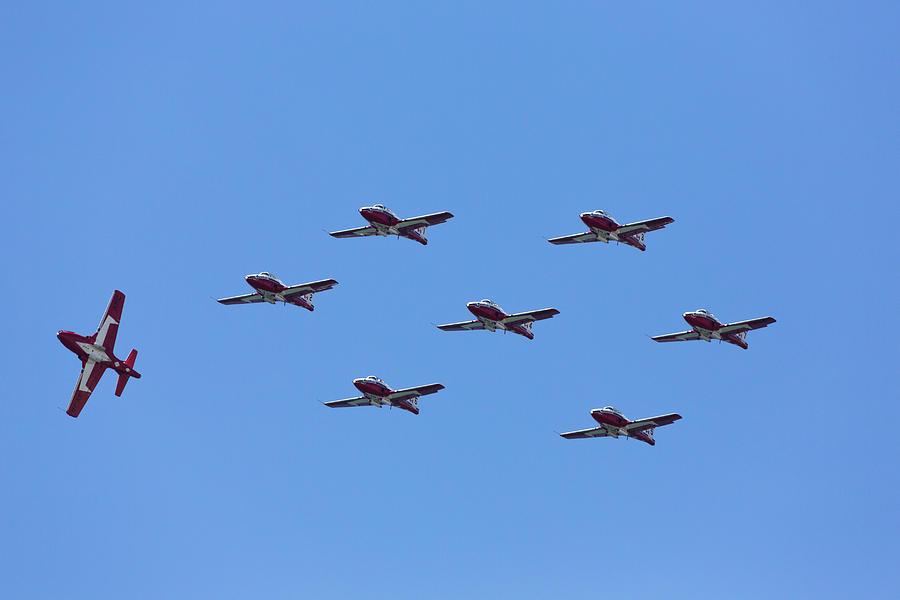 Snowbirds With Number 8 Peel Off Photograph