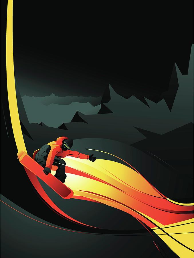 Snowboarder Digital Art by Mecaleha