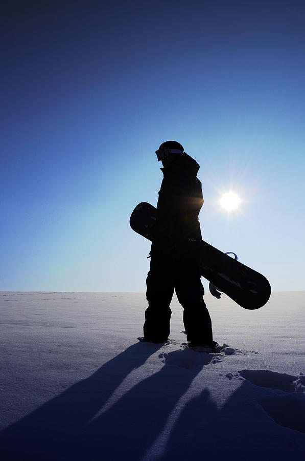 Snowboarder Silhouette Photograph by Aurumarcus