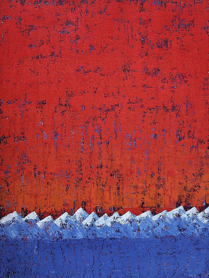 Snowcaps original painting by Sol Luckman