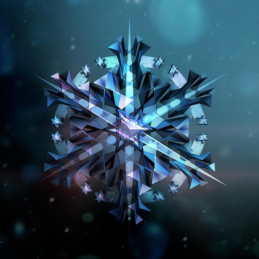 Snowflake 01 Photograph by Mina De La O