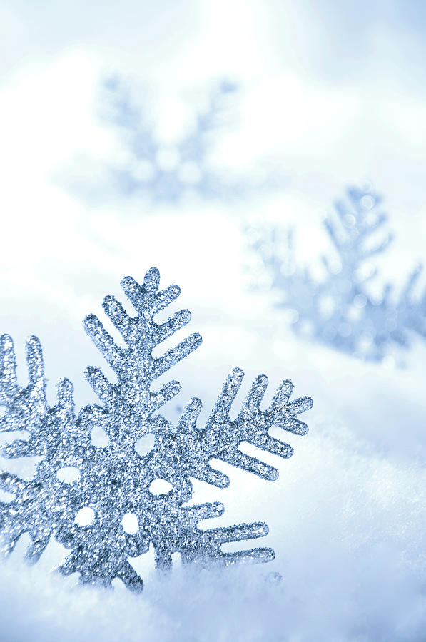 Snowflakes Background Photograph by Barcin