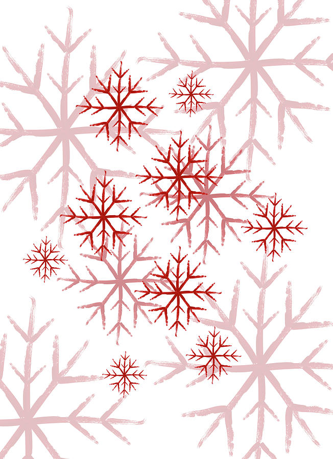 Snowflakes in Red by Jocelyn Friis