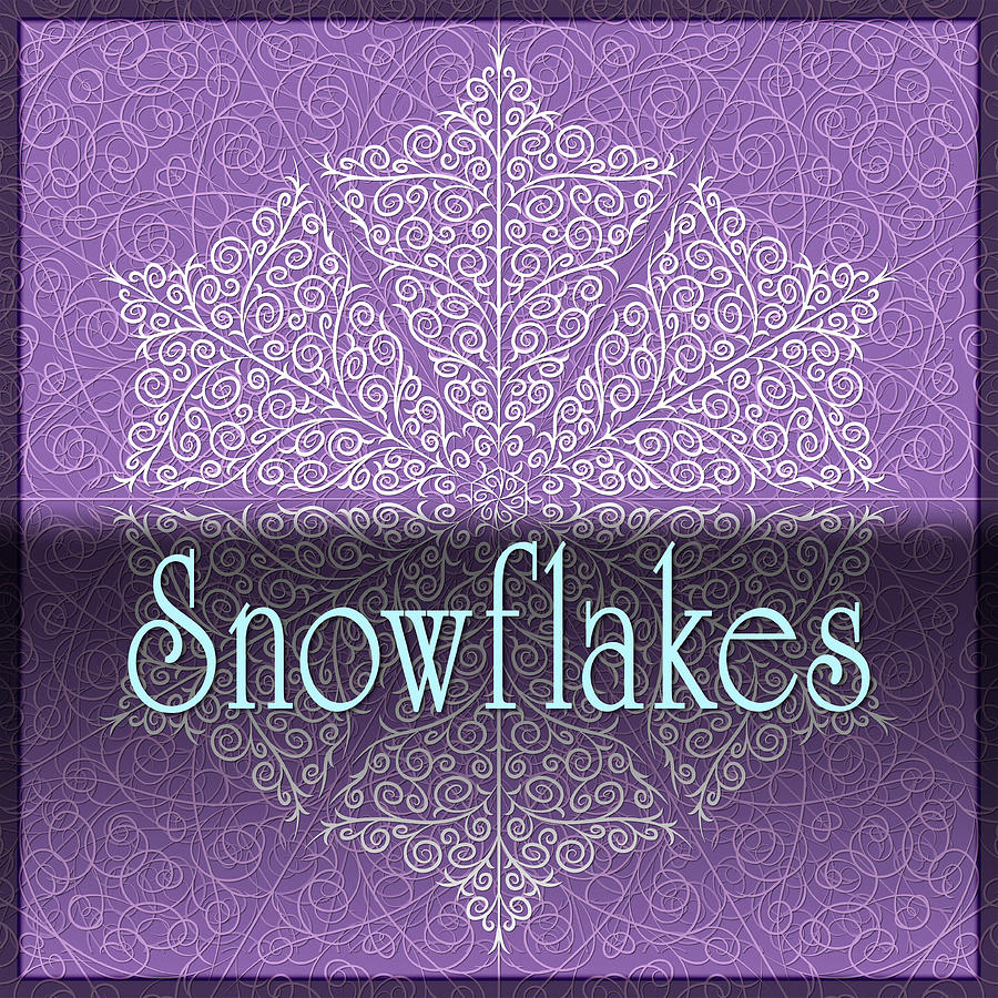 Snowflakes - Lyrical Winter Jewel Sign by Becky Titus