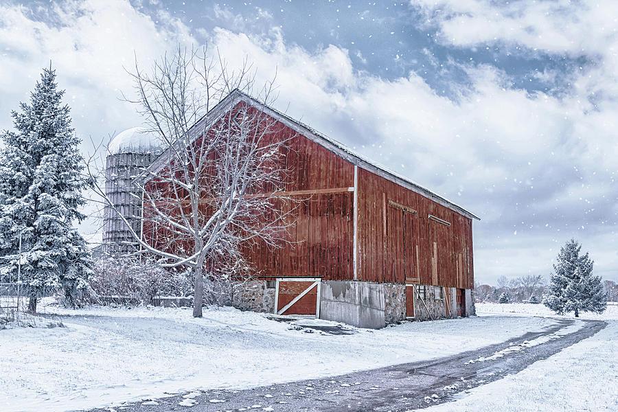 Snowing at the Farm by Kim Hojnacki