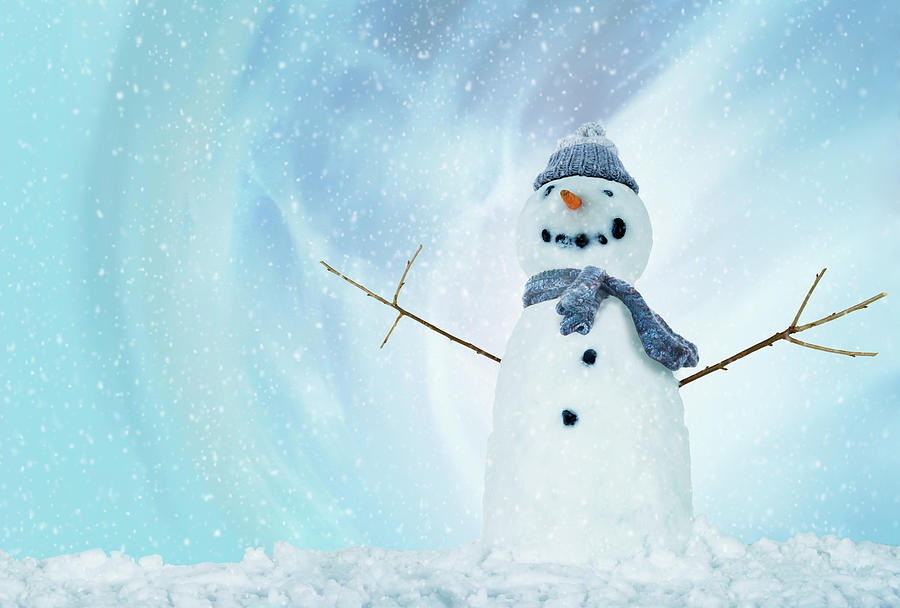 Snowman With Arms Open Photograph by Gandee Vasan
